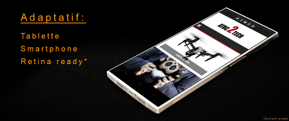 Site ecommerce tablette smartphone