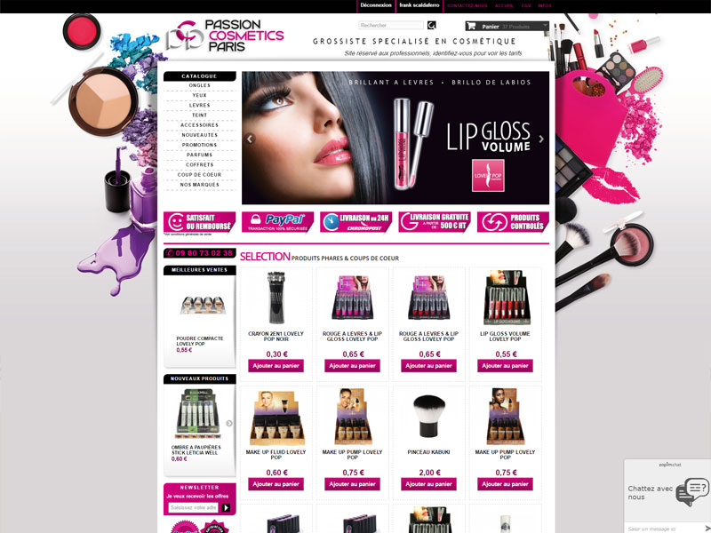 Site passion cosmestic paris